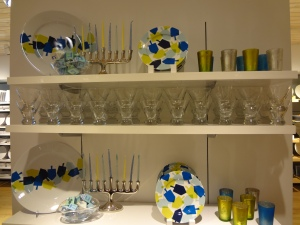 Hanukkah Display at Crate & Barrel