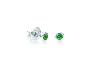 Elsa Peretti® Color by the Yard earrings in sterling silver with tsavorites for Tiffany & Co.Credit: Josh Haskin