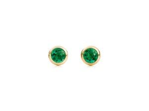 Elsa Peretti® Color by the Yard earrings in 18k gold with emeralds for Tiffany & Co.Credit: Josh Haskin