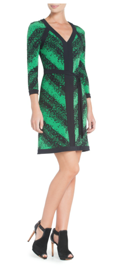 Mayla Printed V-Neck Jersey Dress