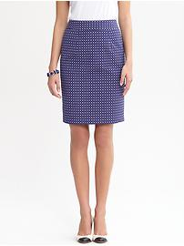Geo Dot Pencil Skirt